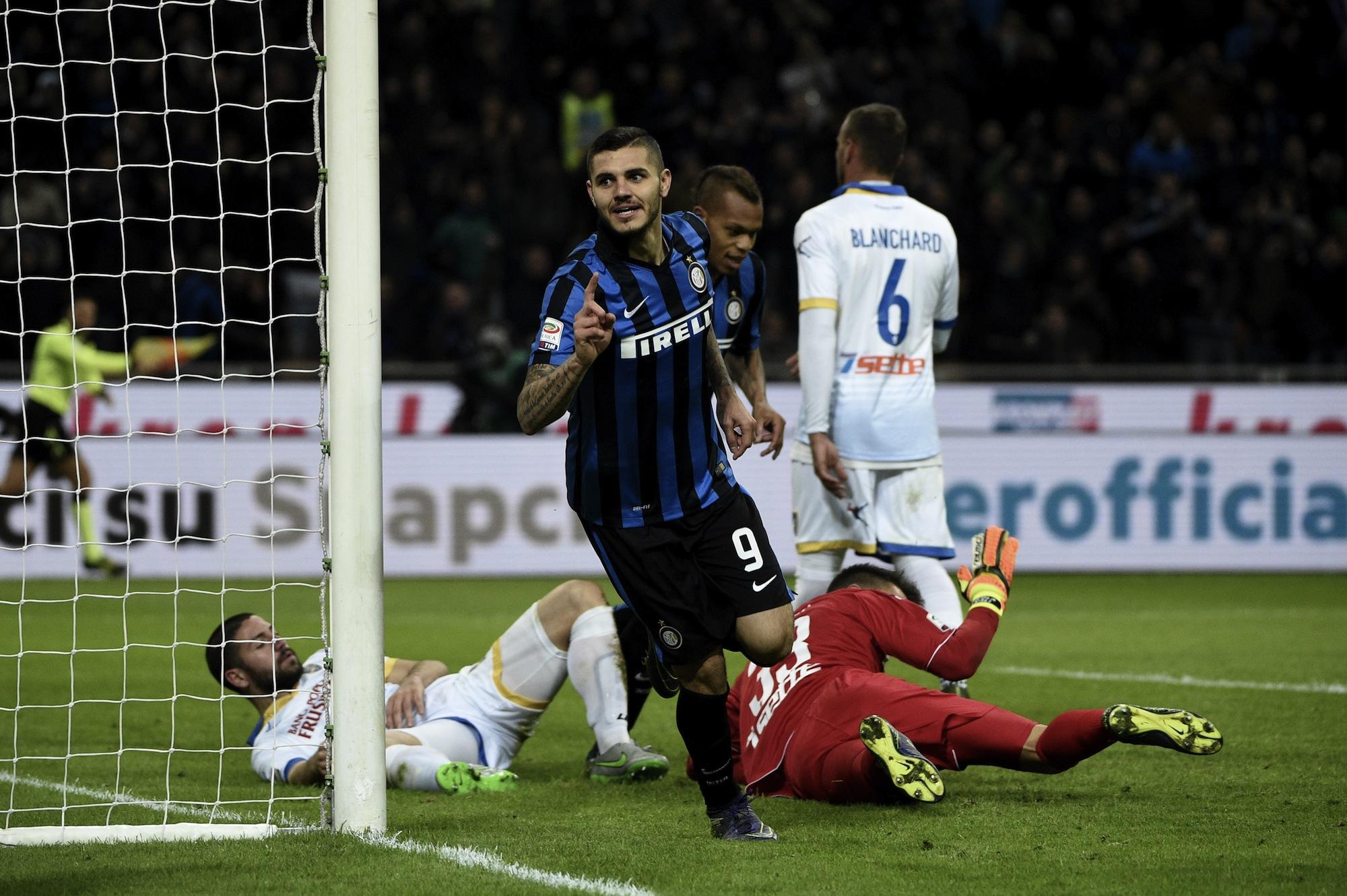 L'ultimo gol di Icardi in questo campionato, il 22 novembre nel 4-0 dell'Inter al Frosinone