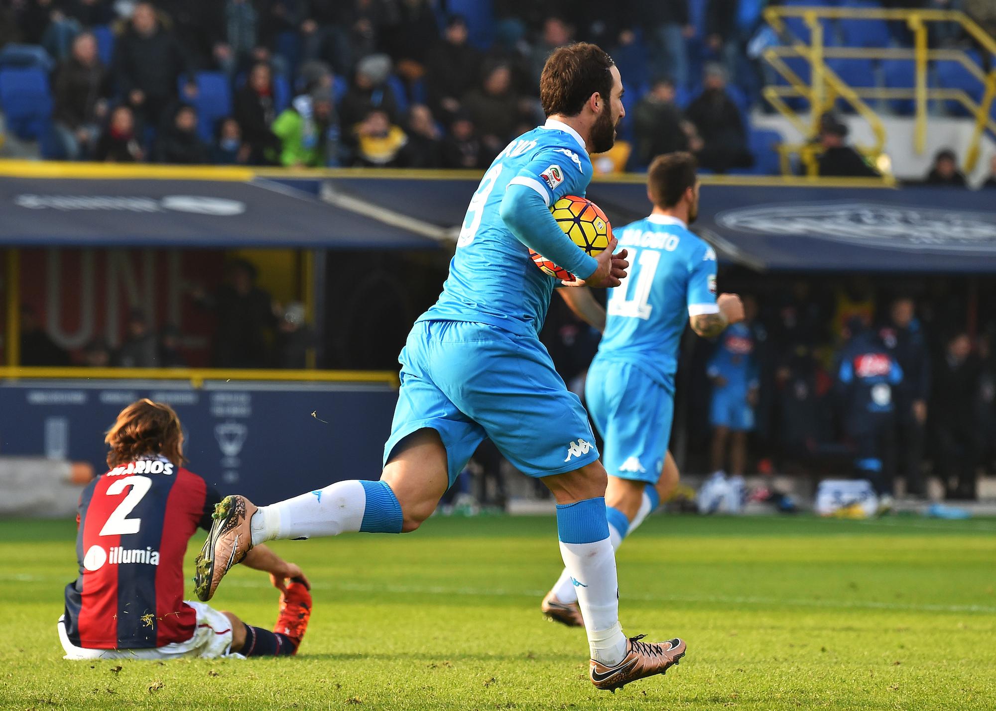 Gonzalo Higuain, 14 gol quest'anno con la maglia del Napoli