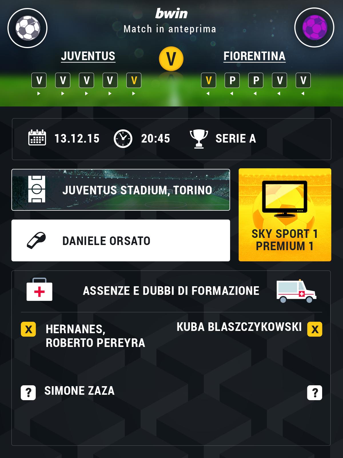 Juve-Fiorentina