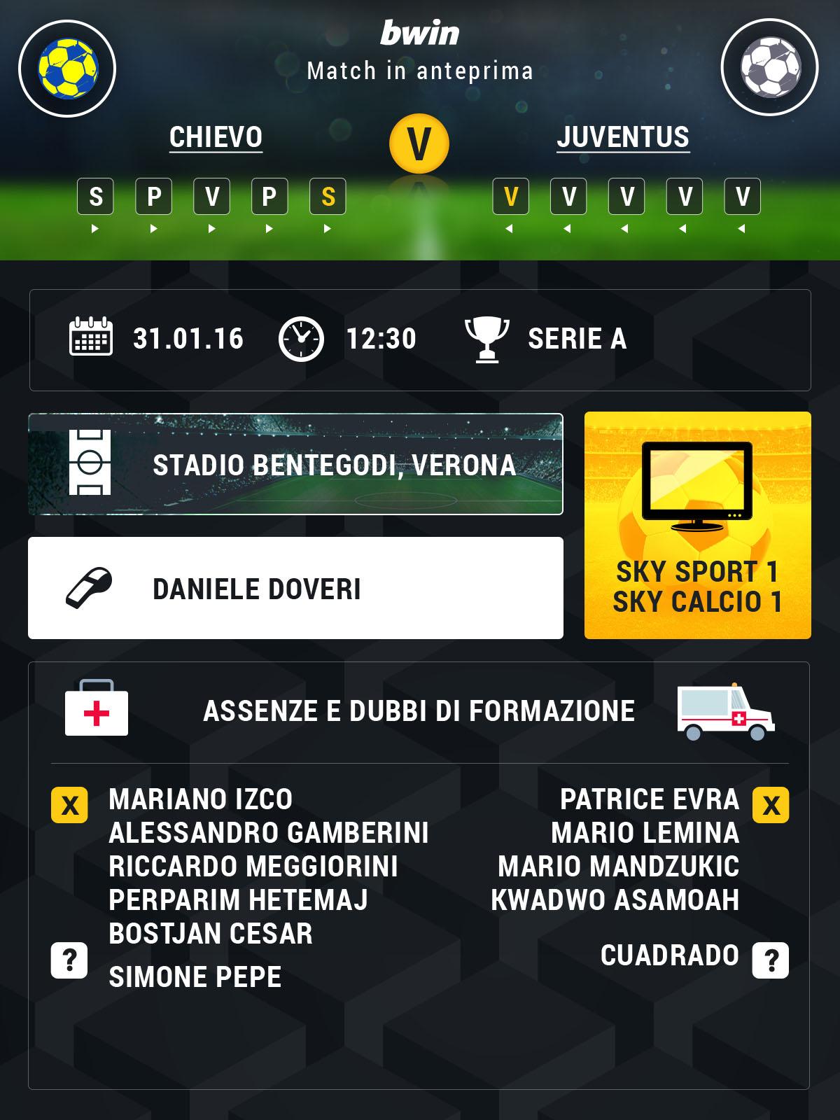 Chievo-Juve preview