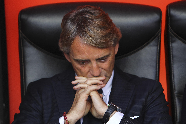 Roberto Mancini è alle prese con un momento non facile della stagione nerazzurra...