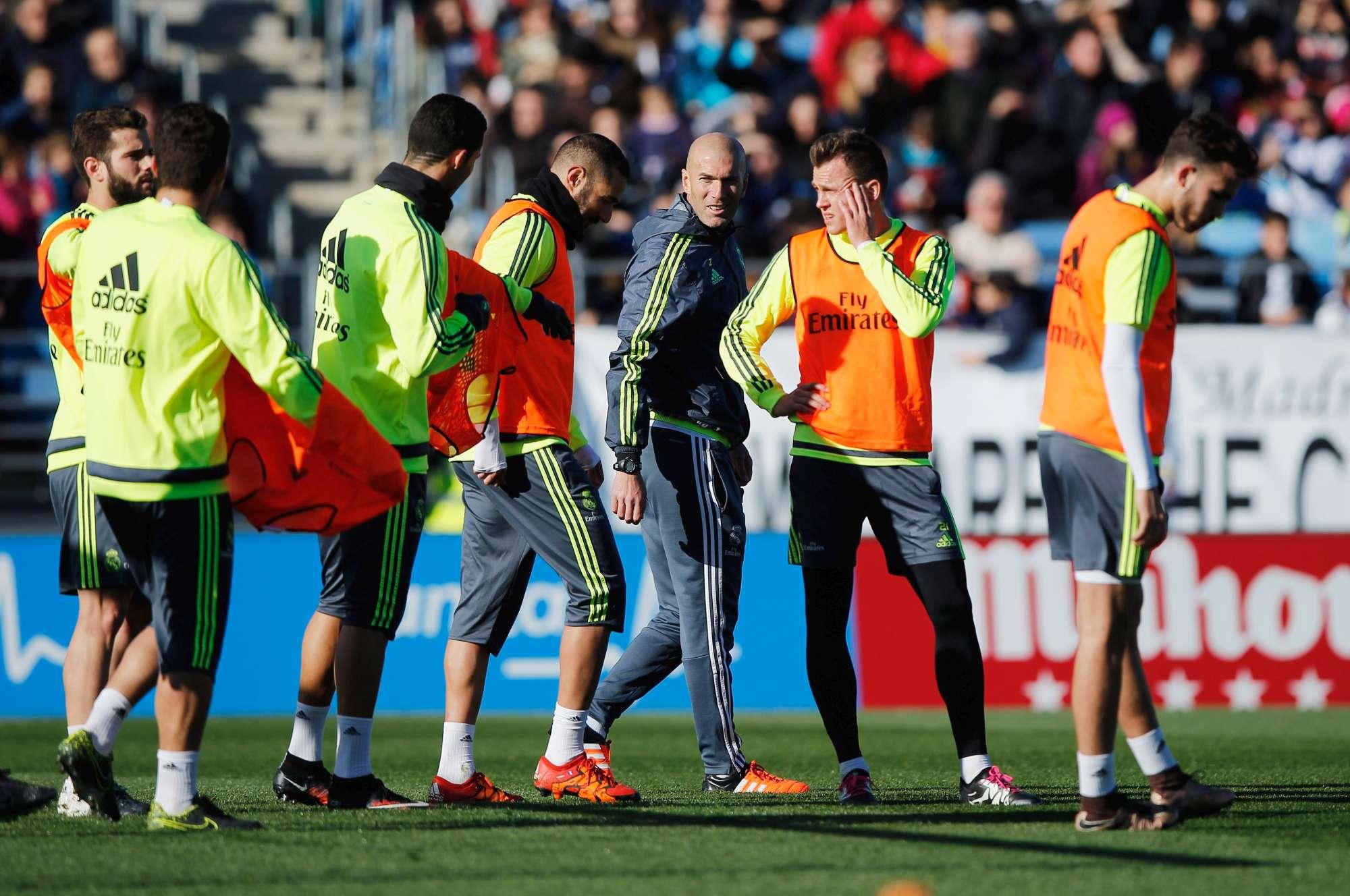 Il primo allenamento di Zidane con il Real Madrid