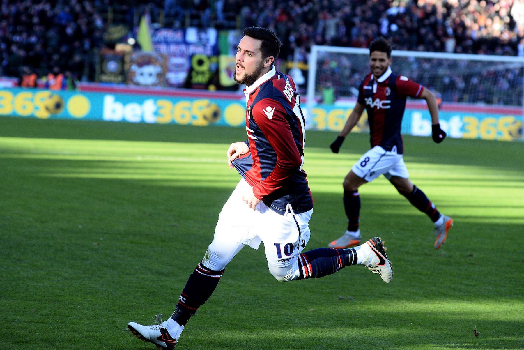 Mattia Destro, 7 gol quest'anno con la maglia del Bologna, tutti nelle 13 partite con Donadoni