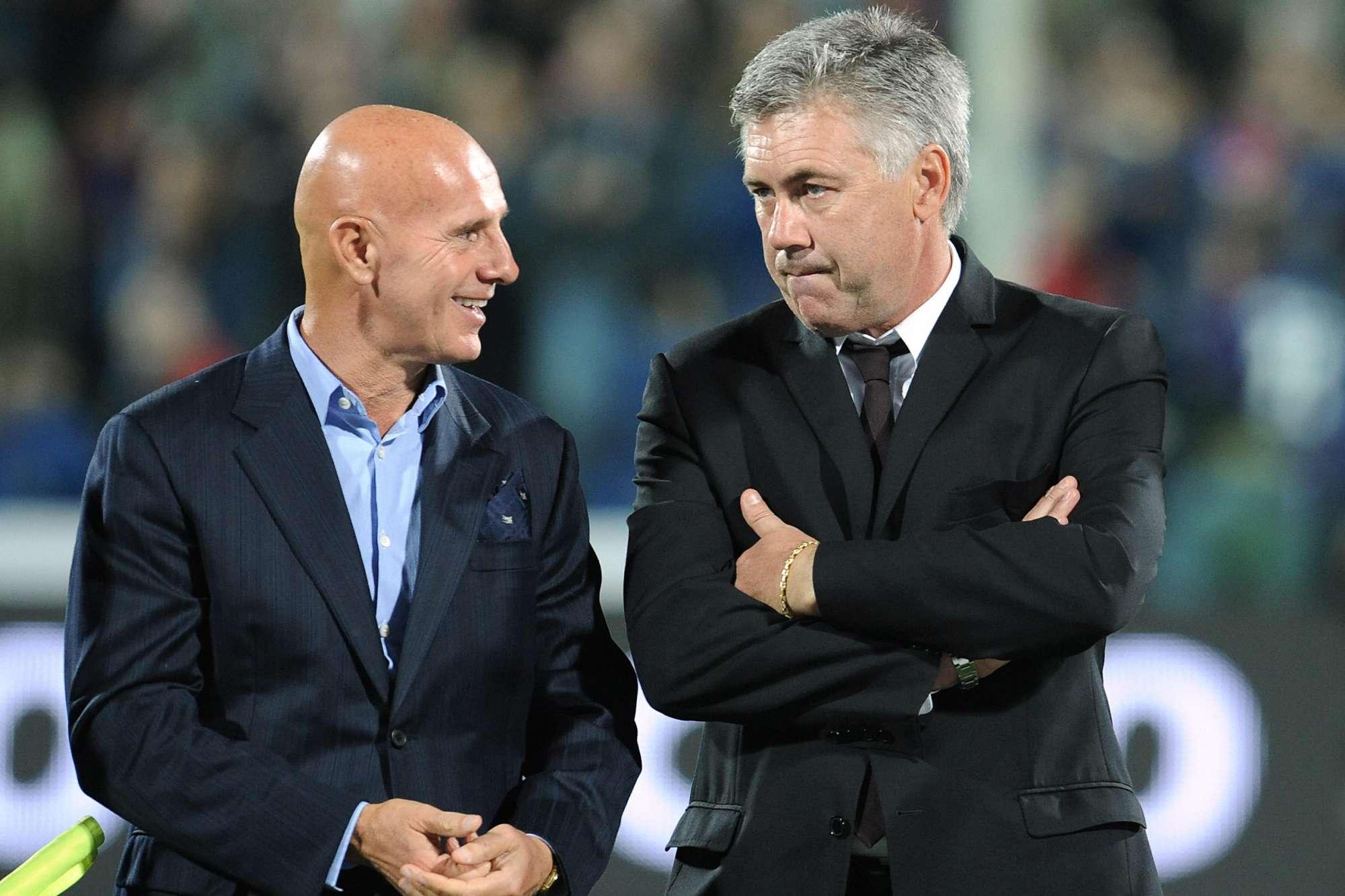 Sacchi e Ancelotti, due dei più grandi allenatori del Milan