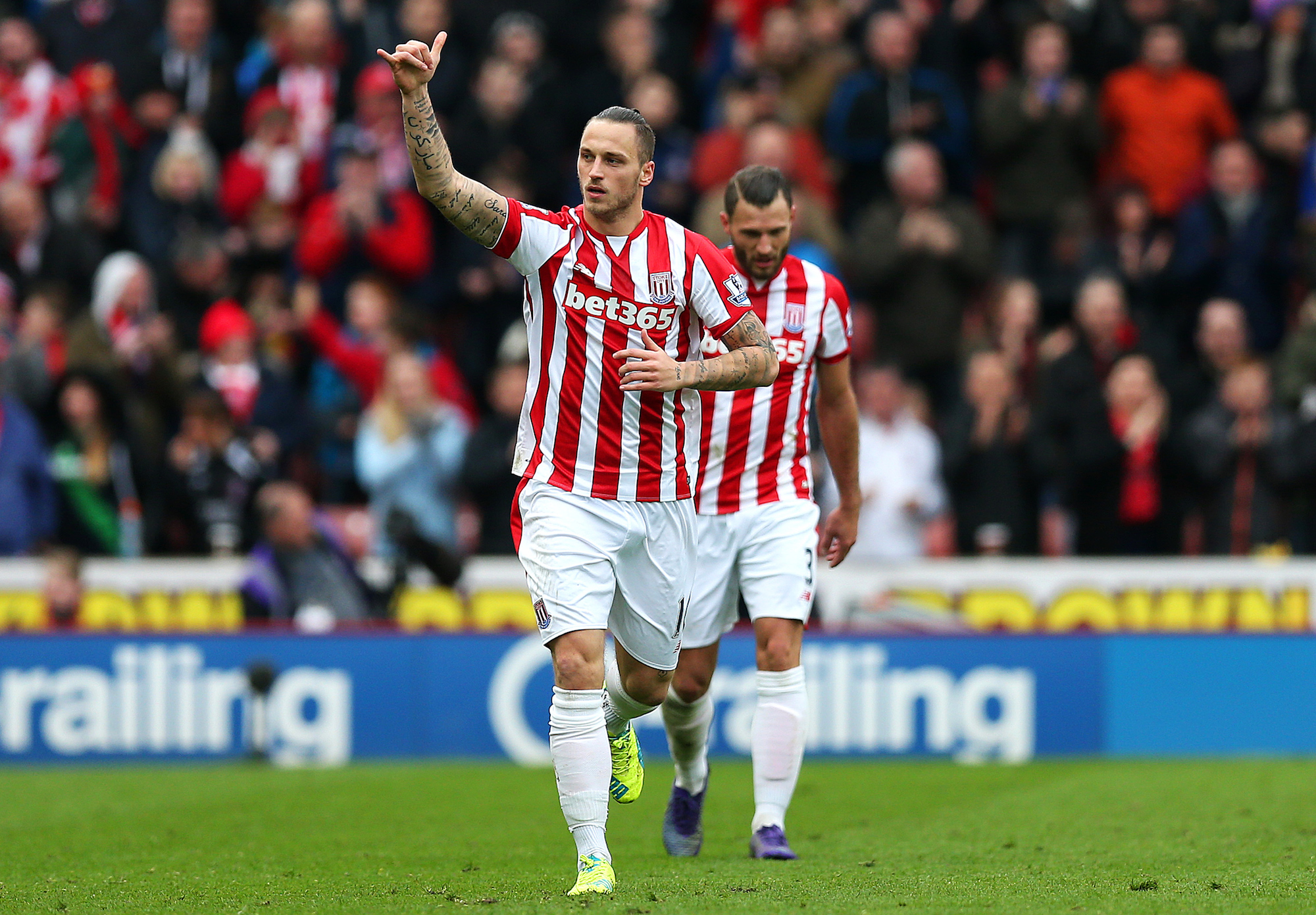 L'ex interista Marko Arnautovic ha trovato la sua dimensione ideale allo Stoke: quest'anno per lui 10 gol e 4 assist in Premier League