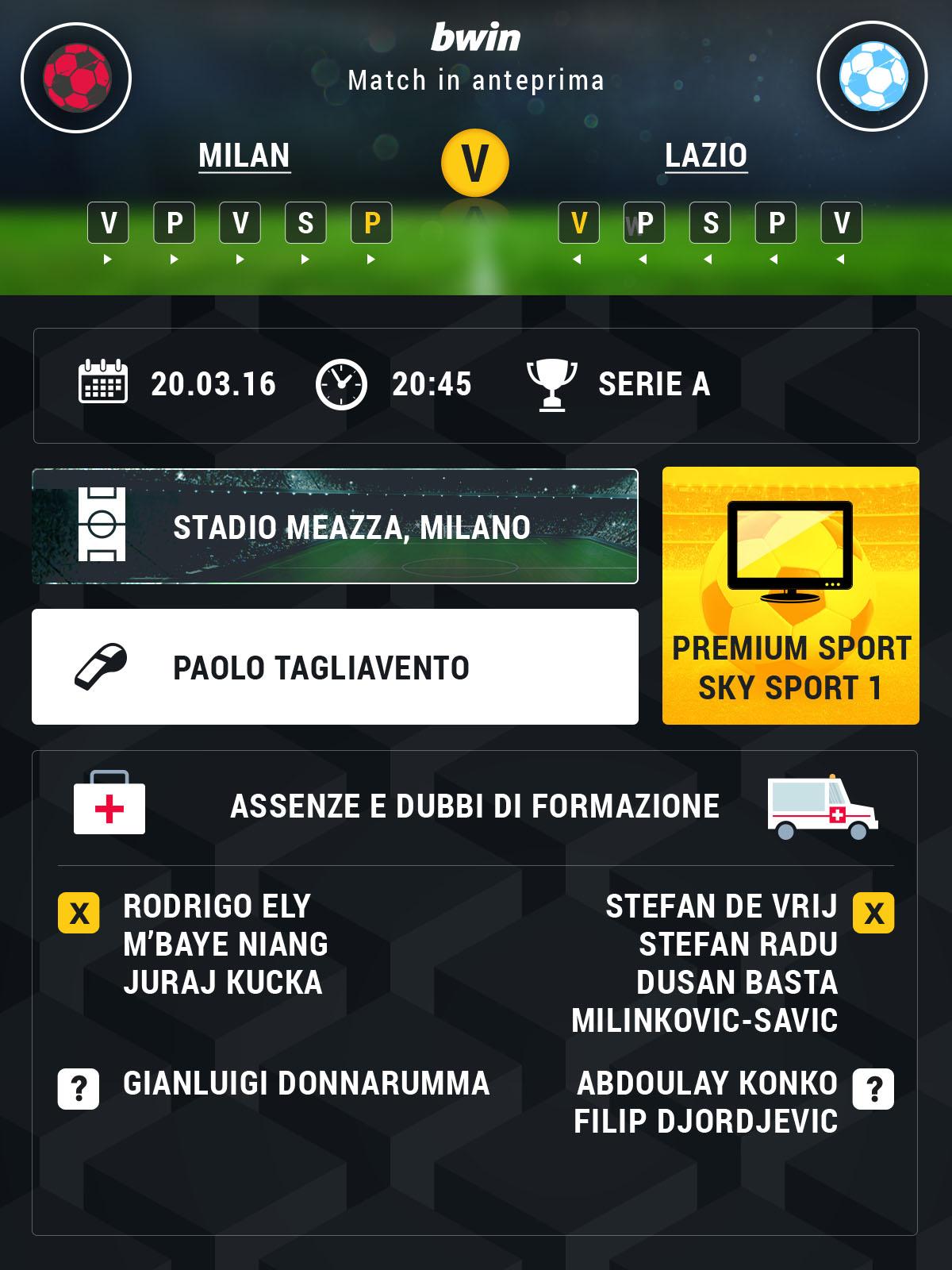 Milan-Lazio preview