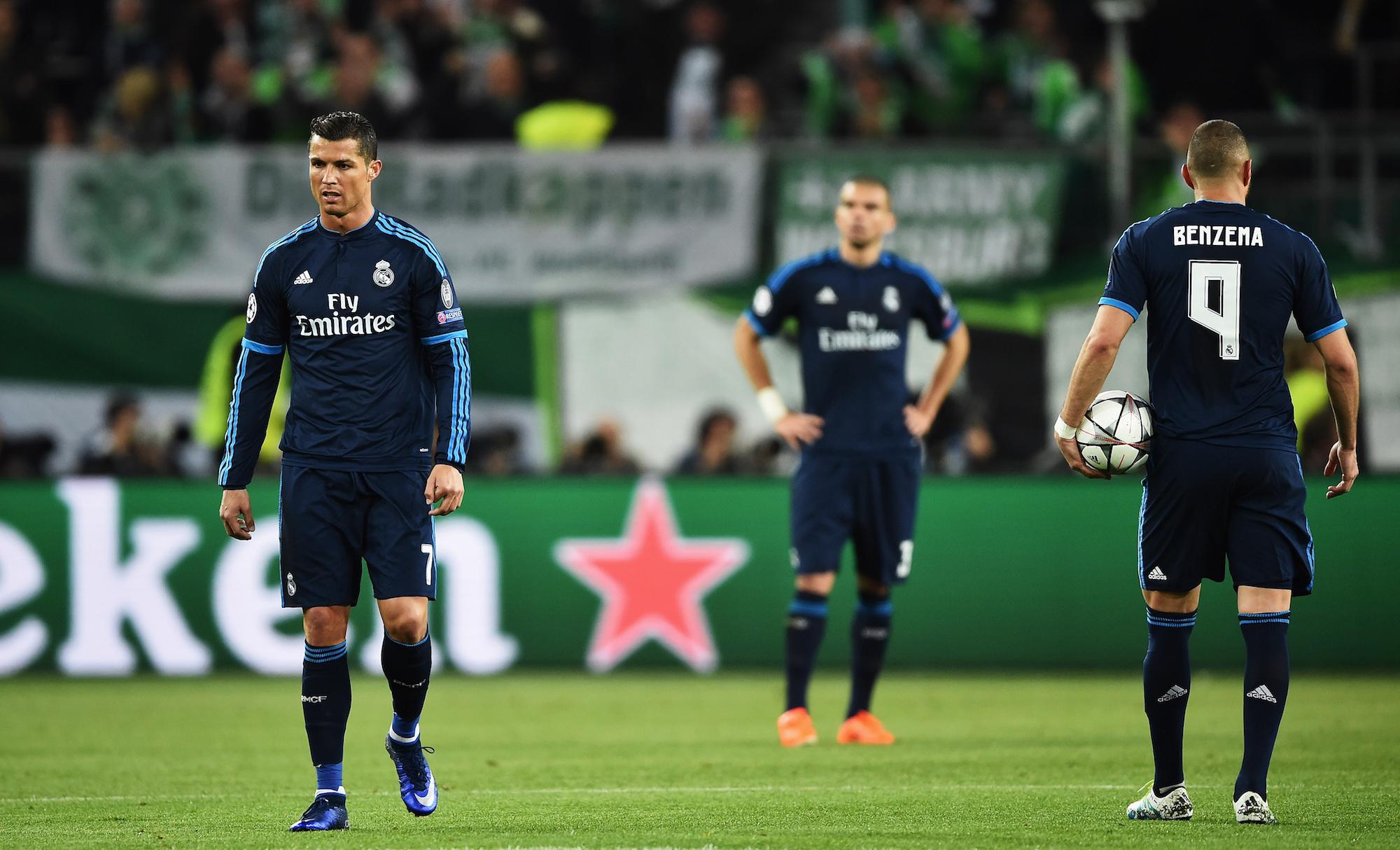 Un'immagine che trasmette bene lo spirito della serata madrilena a Wolfsburg