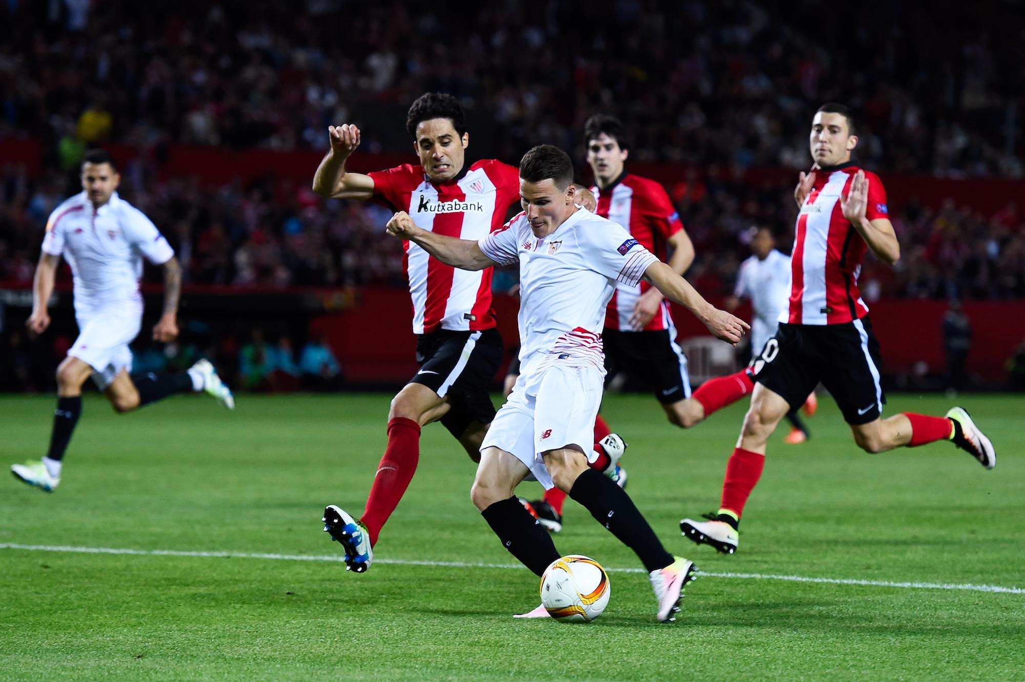 Kevin Gameiro, 4 gol in questa edizione di Europa League con il Siviglia