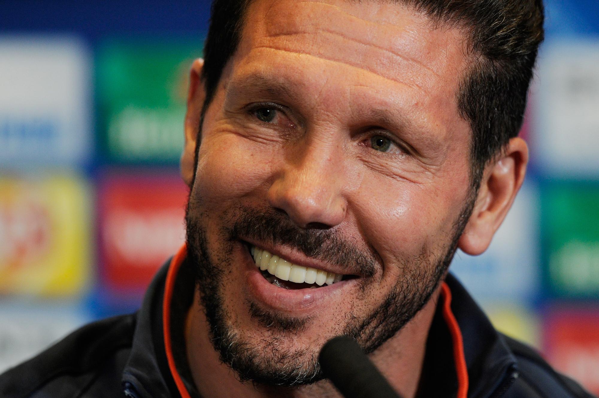 Diego Pablo Simeone, sulla panchina dell'Atletico dal dicembre 2011