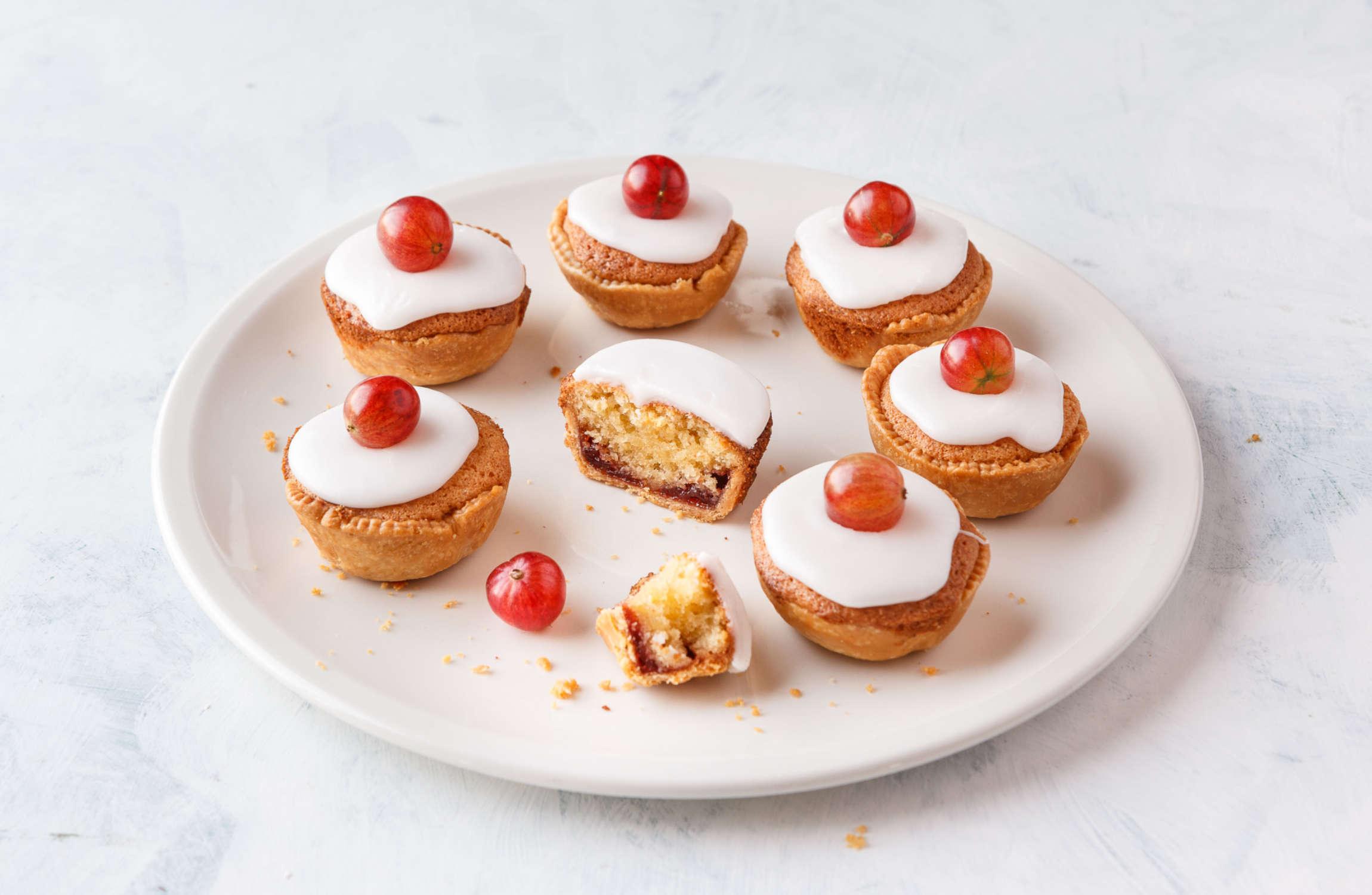 Red Gooseberry Bakewell Tarts