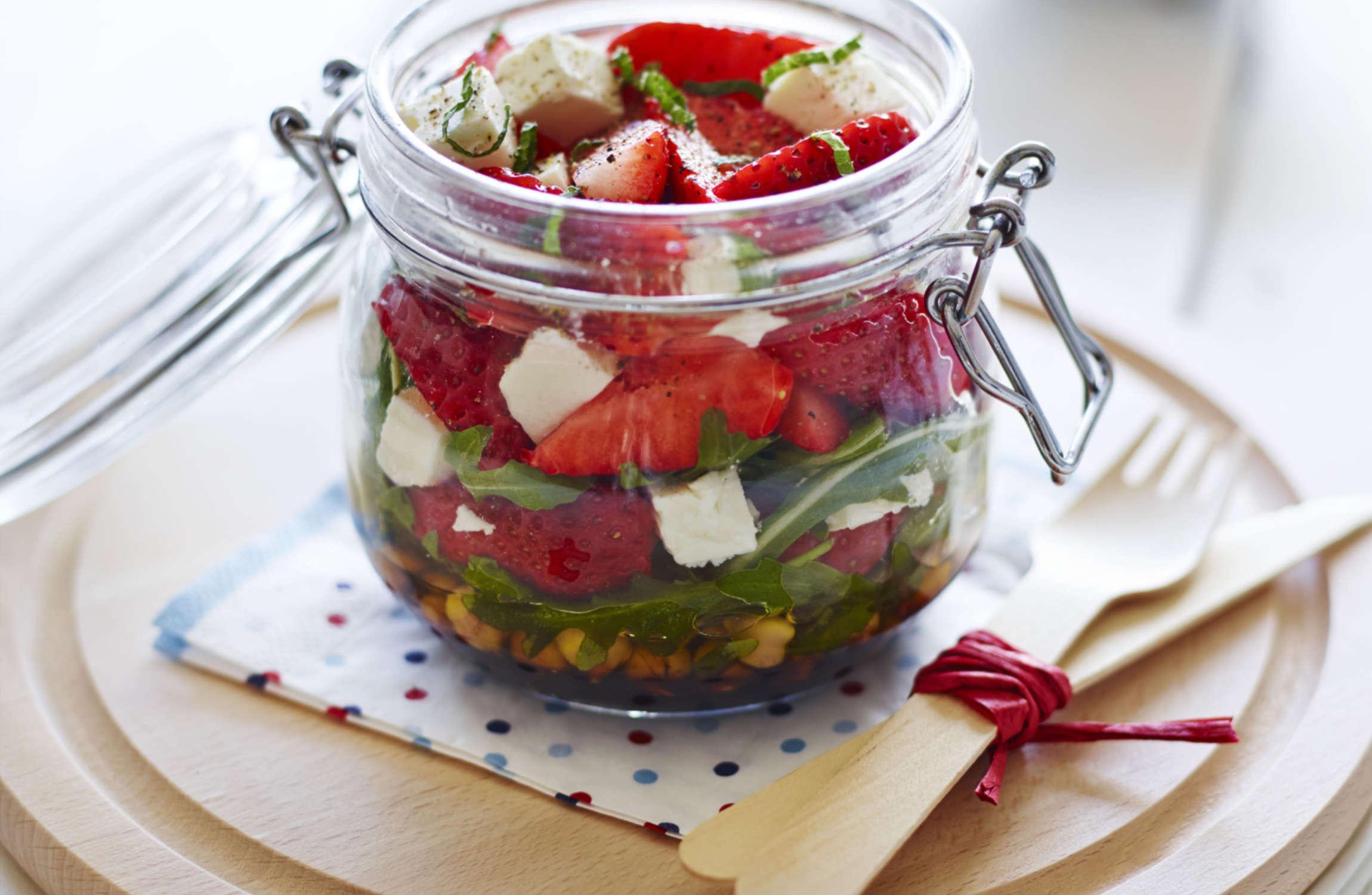Strawberry Kilner Jar Salad