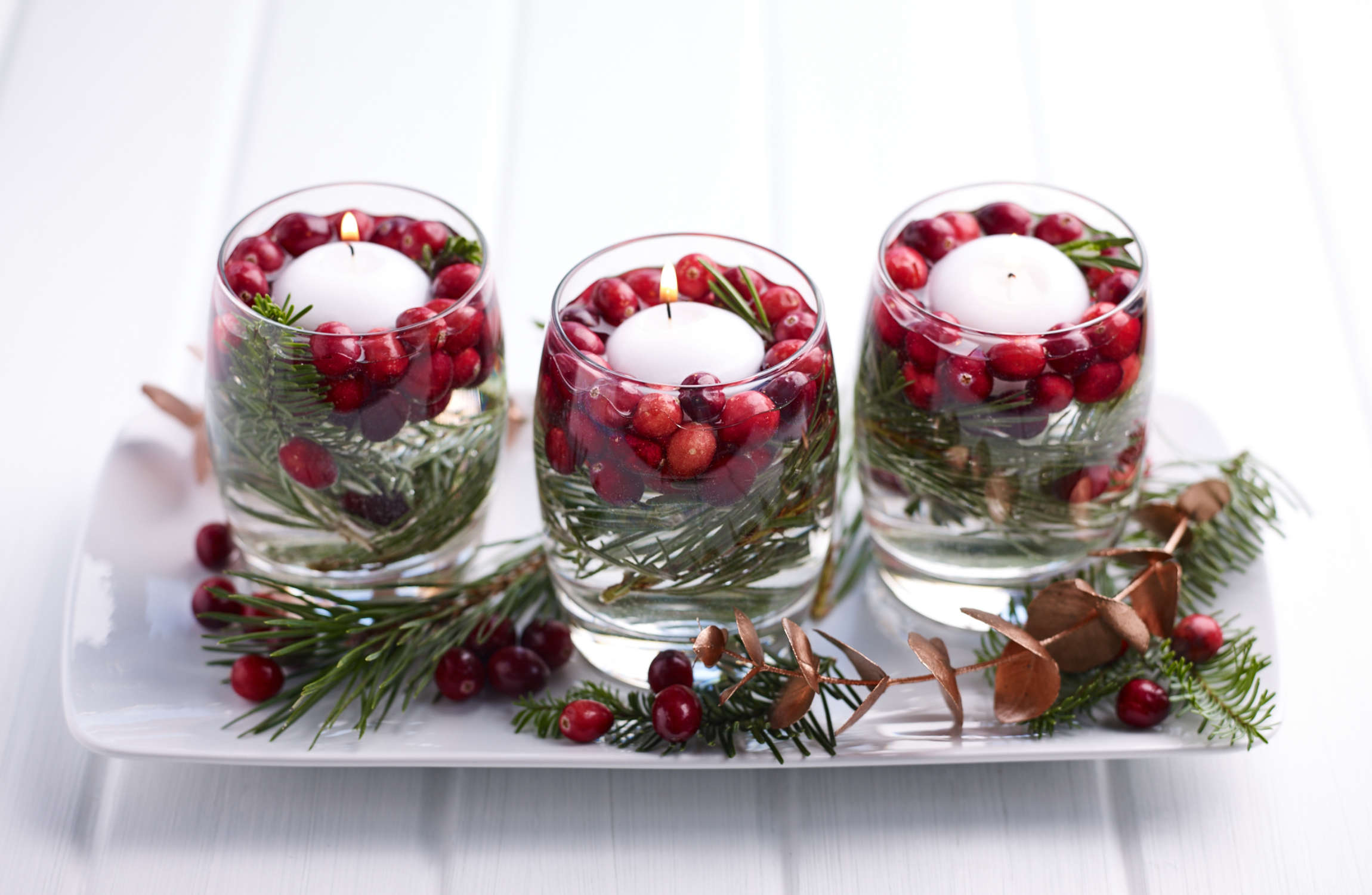 Festive Cranberry Candle
