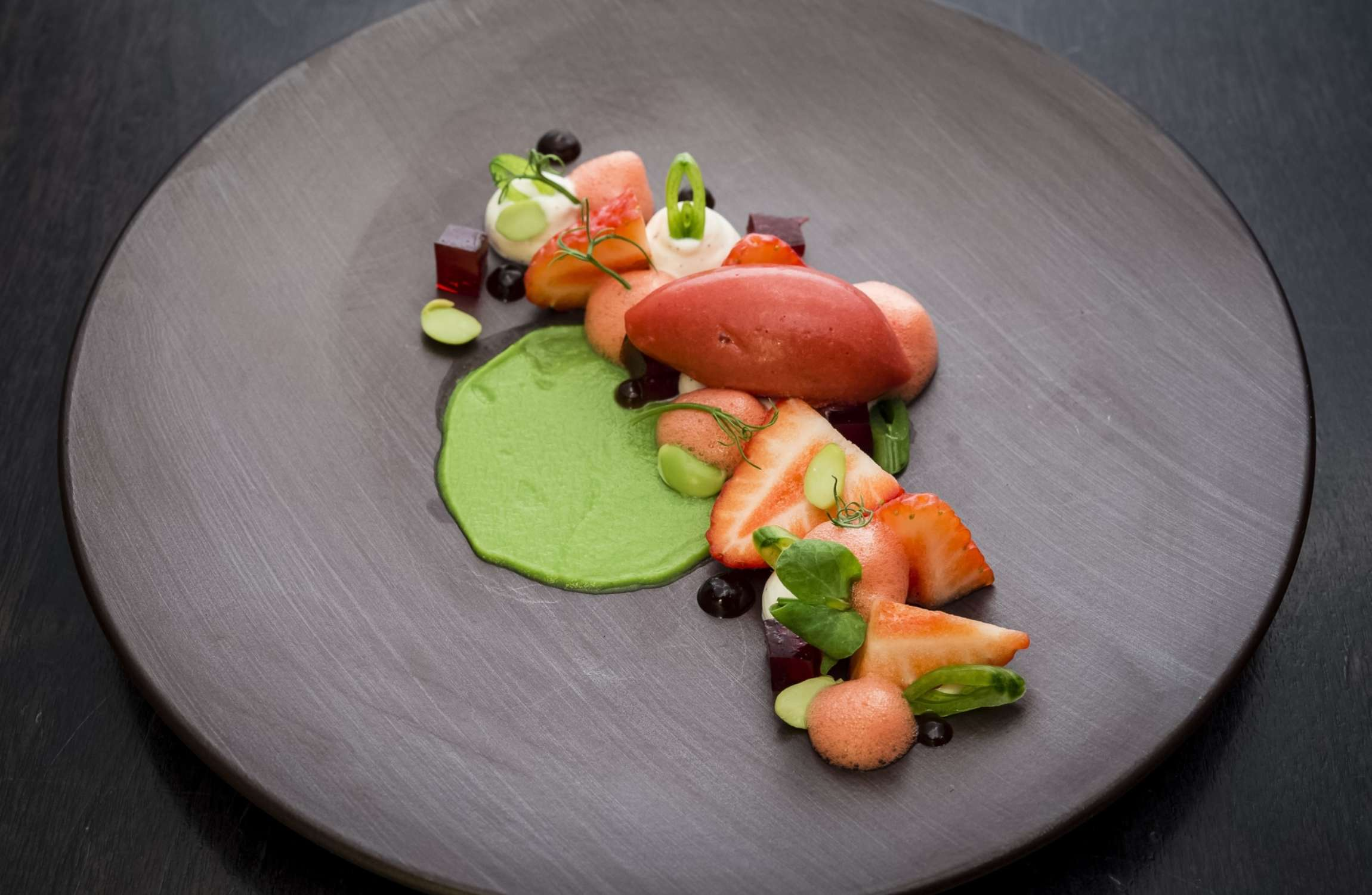 Strawberry & Pea Dessert