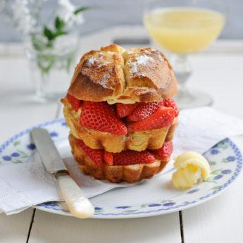 Strawberry Toasted Brioche Sandwich