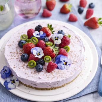 Mixed Berry Cheesecake with Kiwi Berries