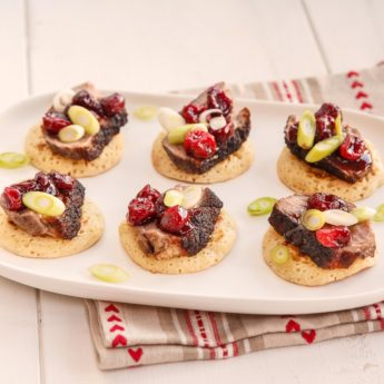 Duck & Cranberry Canapes