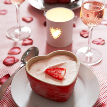 Strawberry Easy Valentine's Day Ice cream