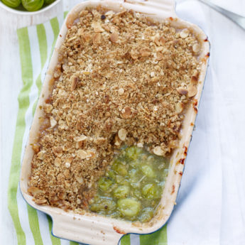 Nutty Gooseberry Crumble