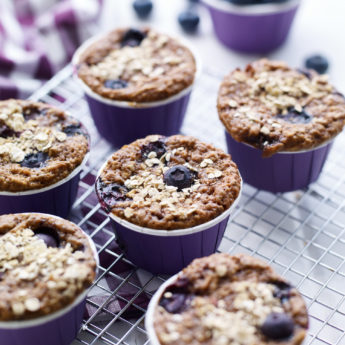 Healthy Chia & Blueberry Muffins