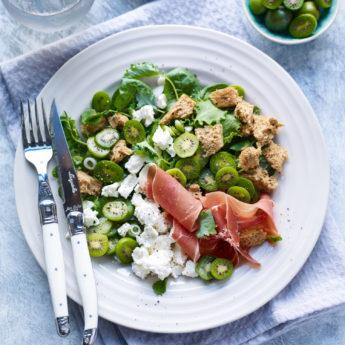 Kiwi Berry, Feta & Serrano Ham Salad