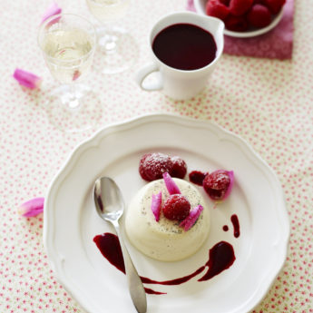 Panacotta with Raspberries