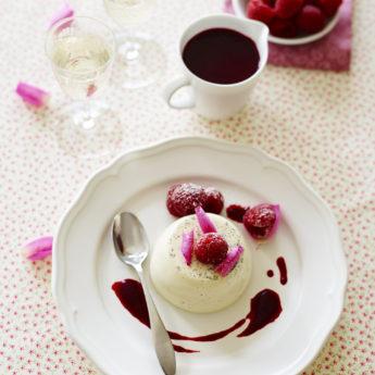 Panacotta with Raspberries