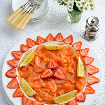 Strawberries with Smoked Salmon