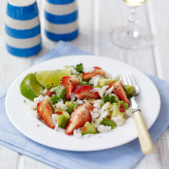 Fresh Strawberry, Crab & Avocado Salad