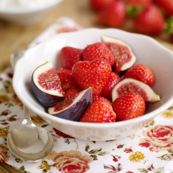 Strawberry, Fig & Rosewater Salad
