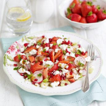 Strawberry, Pomegranate, Fennel, Radish & Mint Salad