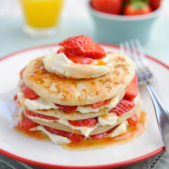 Strawberry Scotch Pancakes