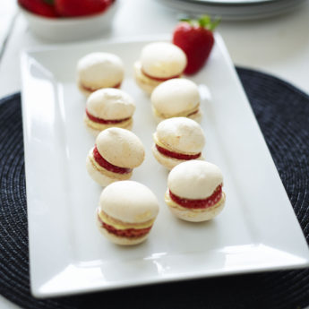 Strawberry & Almond Macaroons