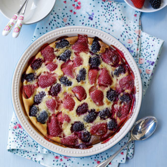 Strawberry & Blackberry Clafoutis Monique