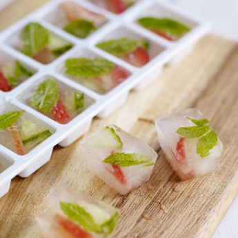 Strawberry & Mint Ice Cubes