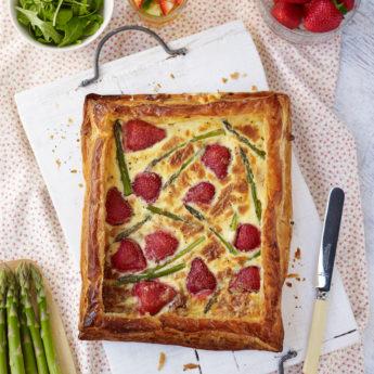 British Strawberry & Asparagus Quiche