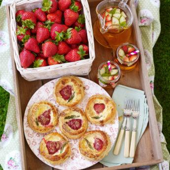 Strawberry & British Asparagus Mini Quiches