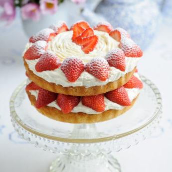 Strawberry Cream Victoria Sponge Cake