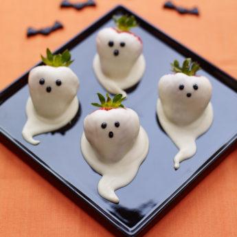 Chocolate Strawberry Ghost Halloween ScareBerries