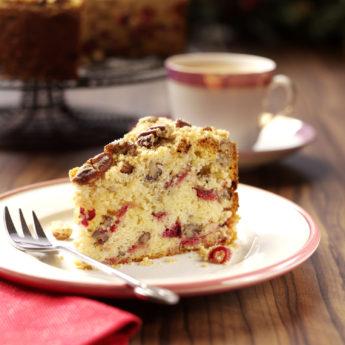 Cranberry, Pecan & Orange Crumble Cake