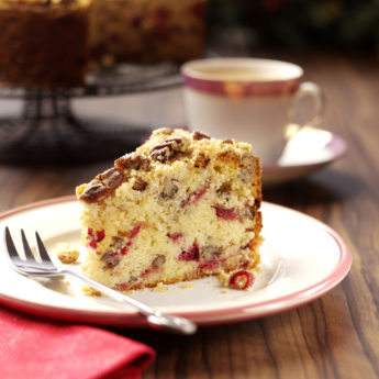 Cranberry, Pecan & Orange Crumble Cake
