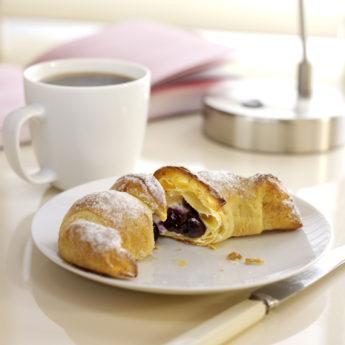 Quick Blueberry & Creamy Lemon Croissants