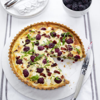 Blackberry & Goats Cheese Quiche