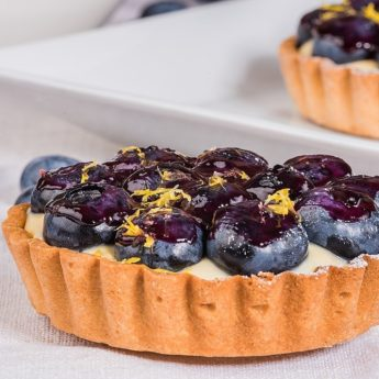 Fresh Blueberry & Lemon Custard Tart