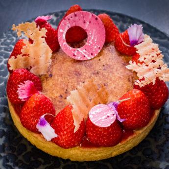 Strawberry Brûlée Tart