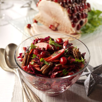 Crunchy Cranberry & Cabbage Winter Slaw