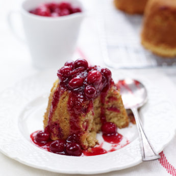 Toffee Cranberry Puddings