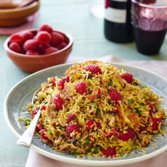 Persian Jeweled Rice with Raspberries, Walnuts & Parsley