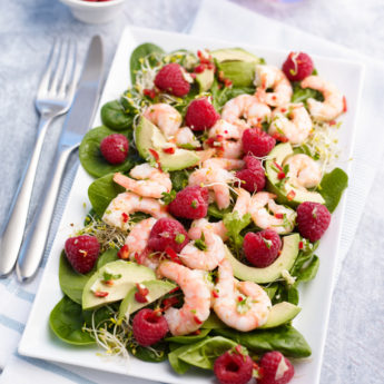 Prawn & Raspberry Super Salad