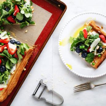 Open Cheese & Berry Tart