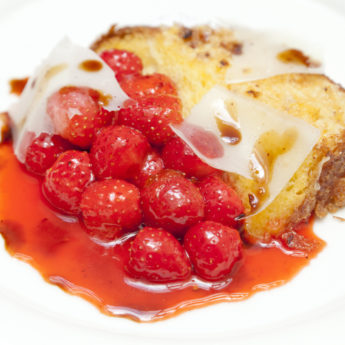 Pain Perdu with Roasted Strawberries